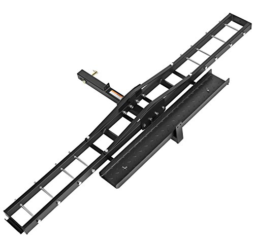 (Direct Aftermarket Steel Motorcycle Scooter Dirt Bike Rack Carrier Hauler Hitch Mount Rack Ramp Anti Tilt Anti Wobble)