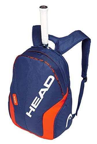 - HEAD Radical Rebel Tennis Backpack, Navy Blue/Orange