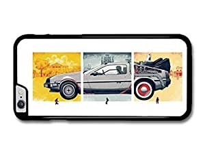 "AMAF ? Accessories Back to the Future Movie Marty McFly with Delorian Illustration case for for iPhone 6 Plus (5.5"")"