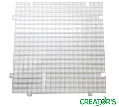 Creators Waffle Grid 1-Pack - As Seen On HGTV/DIY Network - Solid Bottom Modular Surface - Glass Cutting, Small Parts, Liquid Containment, Grow Room, Etc. - Home, Office, Shop - USA Made