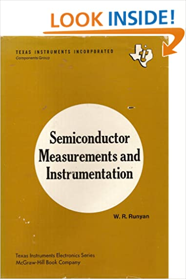 Semiconductor measurements and instrumentation w r runyan semiconductor measurements and instrumentation w r runyan 9780070542730 amazon books fandeluxe Images