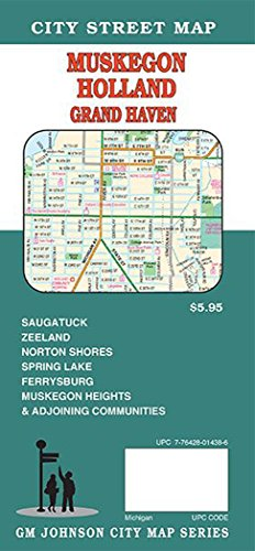 Muskegon / Holland / Grand Haven / Saugatuck, Michigan Street Map