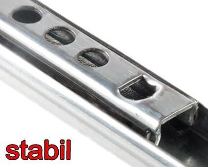 Schubladenschienen 2 ST/ÜCK Teilauszug Rollenauszug Kugelf/ührung H L 17 278 mm