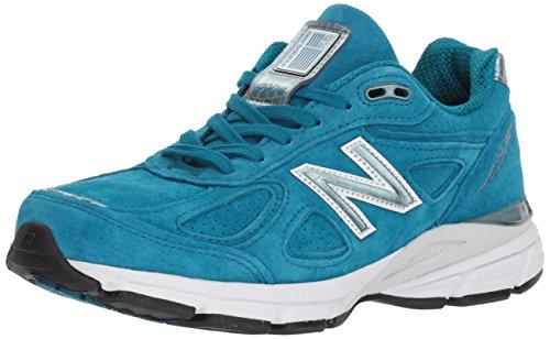 New Valance - New Balance Women's 990v4 Running Shoe, Lake Blue, 8.5 B US