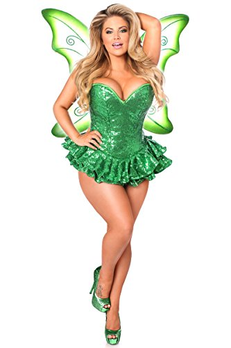 Daisy corsets Women's Top Drawer Premium Sequin Fairy Cor...