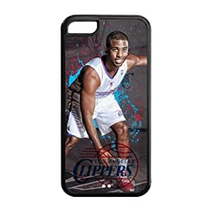 LA Clippers Chris Paul Image Design iPhone 5C TPU Case-by Allthingsbasketball