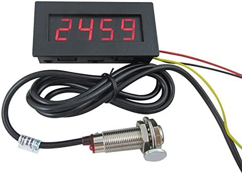 DIGITAL Red 5 LED Frequency Tachometer Speed Converter Motor Car Meter DC 7-12V