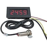 Digiten Tacómetro LED de 4 dígitos, medidor