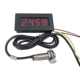 Digiten 4 digital led tachometer rpm speed meterhall proximity digiten 4 digital led tachometer rpm speed meterhall proximity switch sensor npn red asfbconference2016 Image collections