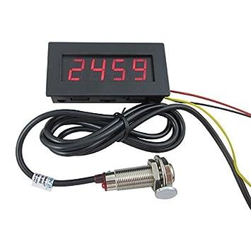 digiten 4 digital led tachometer rpm speed meter+hall proximity switch  sensor npn red: amazon ca: tools & home improvement