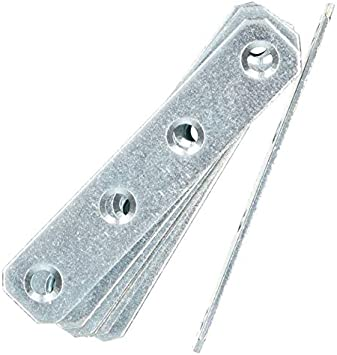 25 KOTARBAU Lochplatten 80 x 16 mm Verzinkt Silber Flachverbinder Holzverbinder Innen Au/ßenbereich Lochplatte Stahlverbinder Lochblech Flacheisen