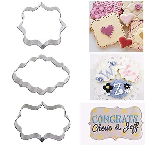 3 Sets Picture Frame Molddiy Cake Mould Chocolate Candy Mold Diy Protein Cream Laminated Cookie Cutters