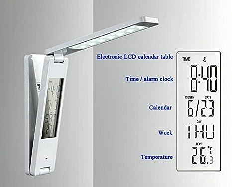 Datums- LED Klappleuchte Temperaturanzeige Weckfkt. Lindner S7190 Uhrzeit-