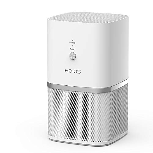 Koios True Hepa Filter Air Purifier, Desktop Air Purifier Home Air Cleaner Compact Design Super Quiet for Rooms and Offices, Removing Allergens, Dust & Pollen, Smoke and Pet Dander, 100% Ozone Free by Koios