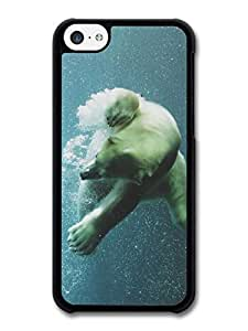 MMZ DIY PHONE CASEDiving Through Bubbles Polar Bear case for iphone 6 plus 5.5 inch