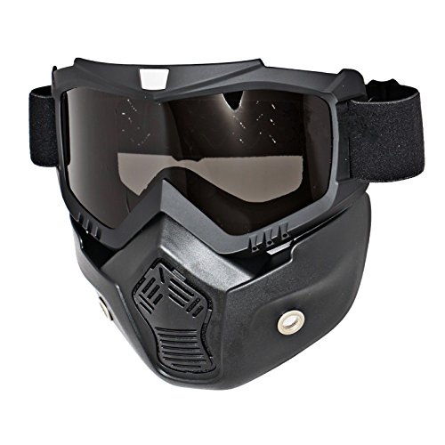 Triclicks Modular Motorcycle Riding Helmet Open Face Mask Shield Goggles Detachable by Triclicks (Image #5)
