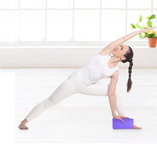"Aottop Exercise Yoga Blocks(set of 2) - High Density Foam Blocks - Lightweight, Odor Resistant and Moisture-Proof,Large Size 9"" 6"" 3"""