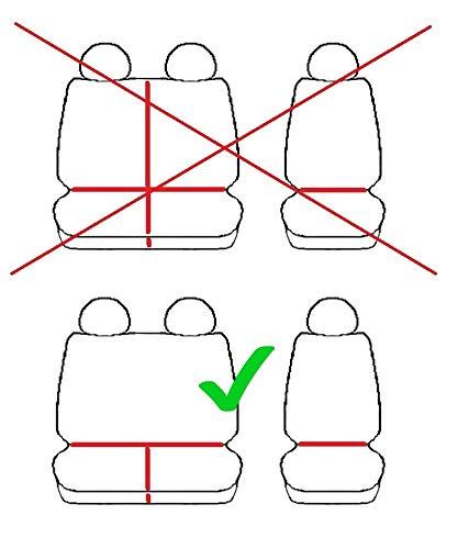 Passgenaue Sitzbez/üge Hero ideal angepasst 1+2 3-Sitzer Fahrzeugspezifisch Polstermaterial 4D-Z4L-DV-VWCR-017-3M-OPC-80