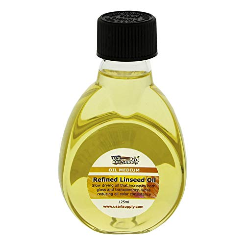 U.S. Art Supply Refined Linseed Oil, 125ml / 4.2 Fluid Ounce Container ()