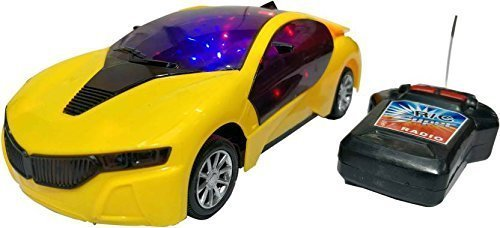 Plastic Sports Car, Pack Of 1, Yellow