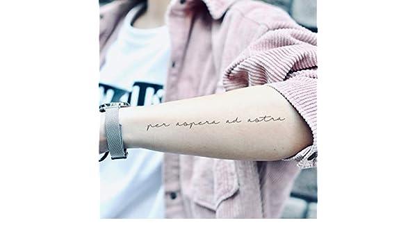 Tatuaje Temporal de Per Aspera Ad Astra (2 Piezas) - www.ohmytat ...