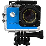 TechComm SPH9 Ultra 4K 30fps Waterproof Sports Action Camera 16MP Camera Sony SONY179 Sensor with Accessory Bundle