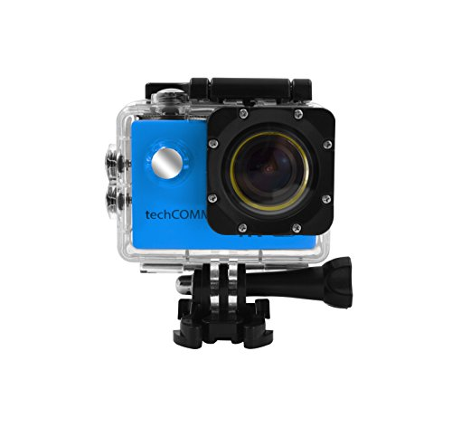 TechComm SPH9 Ultra 4K 30fps Waterproof Sports Action Camera 16MP Camera Sony SONY179 Sensor with Accessory Bundle by TechComm