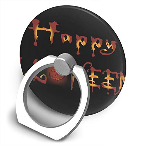 Cell Phone Finger Ring Holder Dark Happy Halloween 360 Degree Rotating Stand Grip Mount Phone Bracket