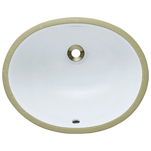 UPS-White Undermount Porcelain Bathroom Sink, Sink Only