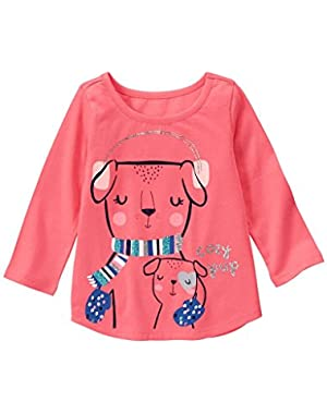 Baby Girls' Pink Pups Graphic Tee