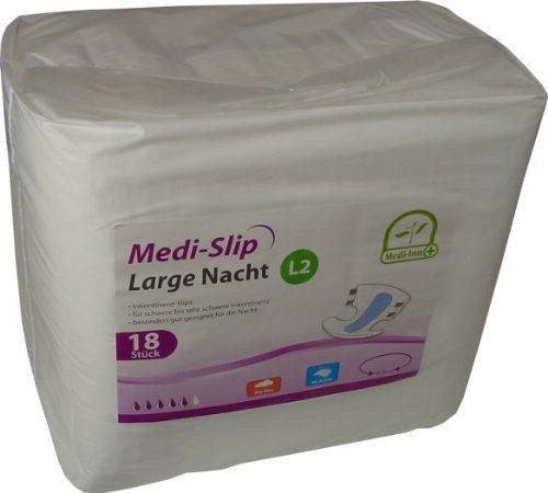Medi-Slip Medi-Inn Pañales para adultos 72 unidades Pañales incontinencia Incntinencia Diferentes tamaños - XL2 Nacht