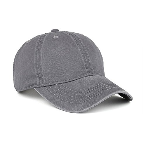 - VANCIC Low Profile Washed Brushed Twill Cotton Adjustable Baseball Cap Dad Hat for Men Women (Grey)