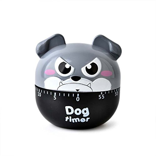 Homework Animals - Mechanical Egg Timer,Cute Animal Beep Kitchen Timer Loud Alarm 60 Minutes Timer for Cooking,Kids' Homework,Exercise (Grey)