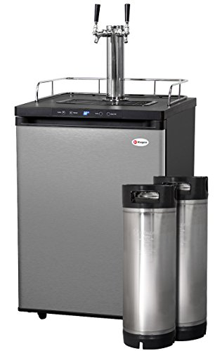 Kegco Full-Size Digital Homebrew Kegerator Dual Faucet Stainless with Ball Lock Keg by Kegco