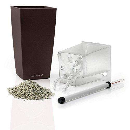 Lechuza 18057 Maxi Cubi Self-Watering Garden Planter, Espresso Metallic For Sale