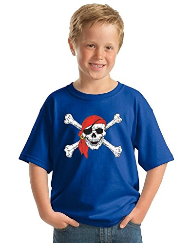 Promotion & Beyond Pirate Skull Red Bandana Party Youth T-Shirt