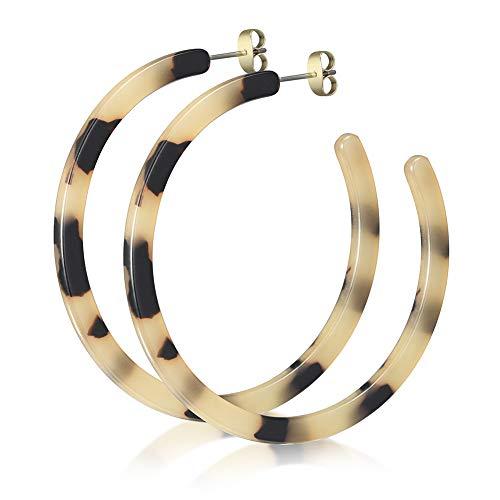 Acrylic Earrings for Women Fashion Leopard Half Hoop Earrings Stud Dangles