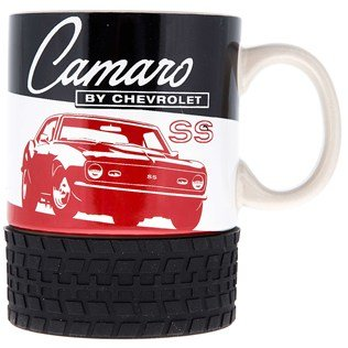 Chevrolet CAMARO SS Ceramic Mug with Tire Base 1968 1969 RS Classic Muscle Car Coffee Cup MAN CAVE ()