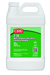 CRC 3-36 Multi-Purpose Lubricant and Corrosion Inhibitor, 1 Gallon Bottle, Clear/Blue/Green