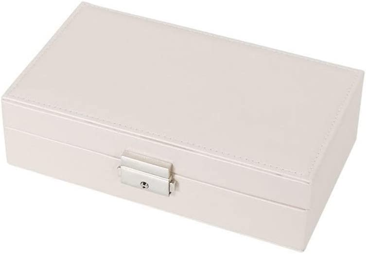 Joyero de almacenamiento de almacenamiento cesta Exquisita viajes joyería caja de presentación cajas de regalo cuero de las mujeres del rectángulo de empaquetado de los anillos pendientes del collar d
