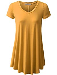 URBANCLEO Womens Basic eLong Tunic Top Mini T-shirt Dress...