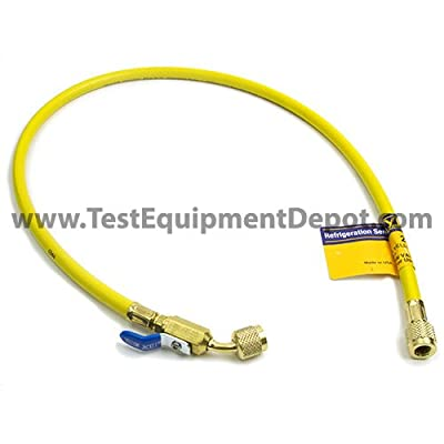 """Yellow Jacket 29036 Plus II Hose with 1/4"""" Compact Ball Valve Fittings, 36"""", Yellow by Fotronic Corporation"""