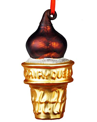 JFWorld Dairy Queen Chocolate Dip Cone Christmas Ornament