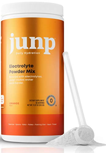 JUNP Hydration Electrolyte Powder, Electrolytes Drink Mix Supplement, Zero Calories Sugar and Carbs, Kosher, Orange Flavor, 90 Servings