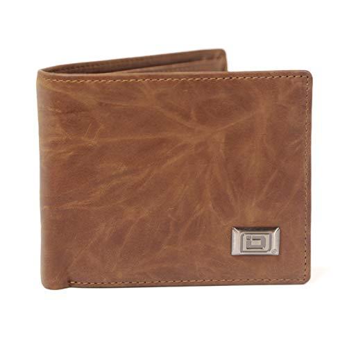 Mens RFID Blocking Bifold Wallet - Western Leather Cowboy Wallet for Men