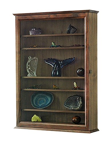 (Curio Wall Cabinet- Solid Walnut Hardwood)