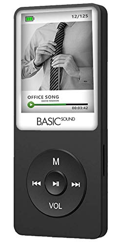 SAMVIX Basic Sound MP3 Player 4GB with Bluetooth, Voice Recorder, Kosher MP3 Players Without Radio, NO Video, NO Pictures, Voice Recorder