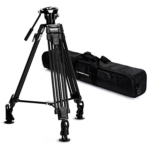 InnerTeck 65-Inch Professional Video Camera Tripod with 360