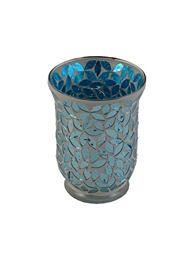 "Firefly Home Collection Mosaic Candle Holder, 5 x 5 x 6"", Te"