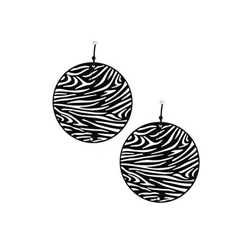 Zebra Earrings (Feather-light Black Tiger/zebra-stripe Earrings)